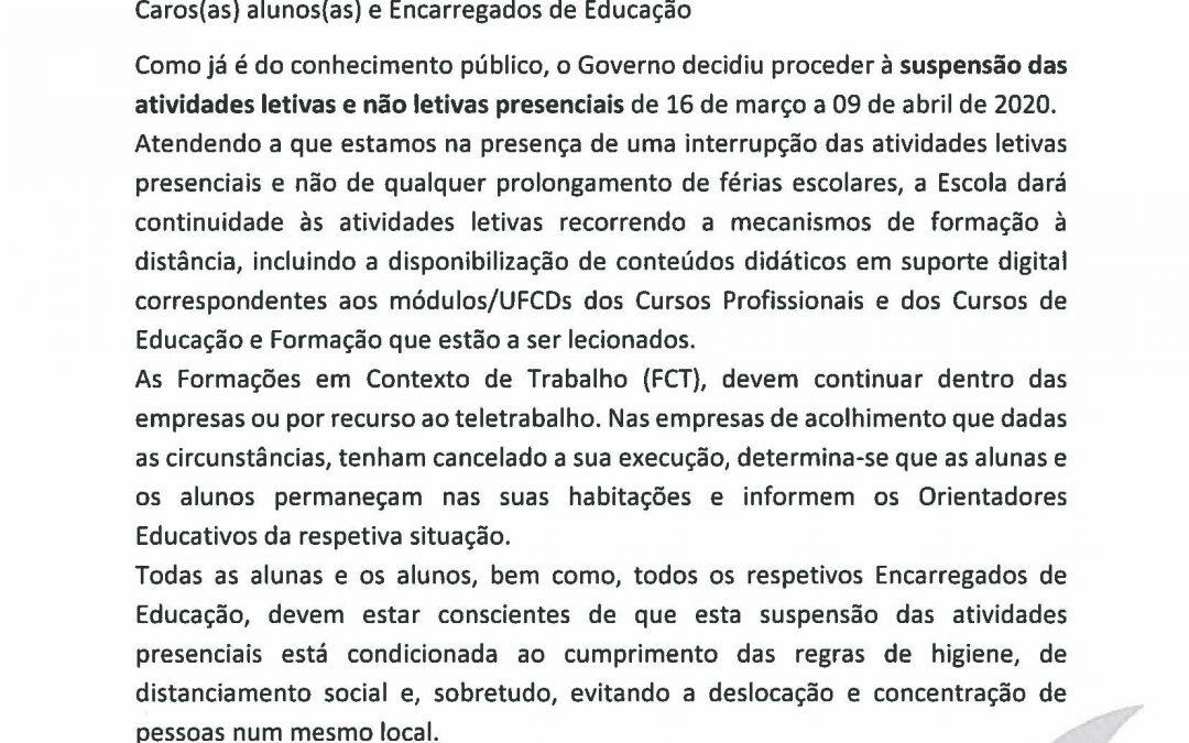 Comunicado EPAR – 13.03.2020