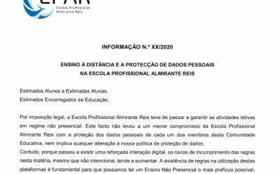 ENSINO À DISTÂNCIA E A PROTEÇÃO DE DADOS PESSOAIS NA ESCOLA PROFISSIONAL ALMIRANTE REIS